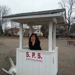 jane working the ticket booth